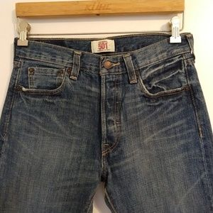 Mens 501 Button Fly Straight Leg Jeans 29/30